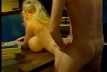 Big tits mature woman fucked on the table tilting