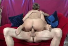 Horny mature woman loves to lick feet