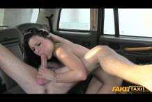 Faketaxi brunette with pink pussy slut is a great fuck