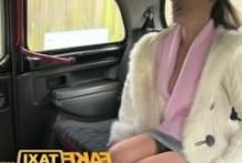 FakeTaxi young brunette empties her face
