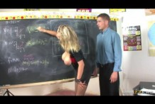 Sexy blonde Katie Kox is doing everything he can to fuck with teacher