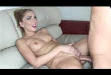 Sexy blonde sucking dick like Lena crazy!