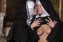 Lesbian nuns and hairy pussies!