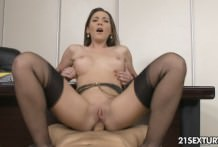 Horny Secretary is fucking in the ass!