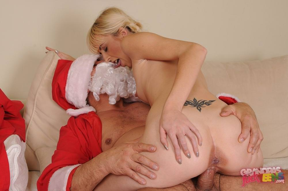 Weak bitch Alexa Wild sex with Santa Claus!