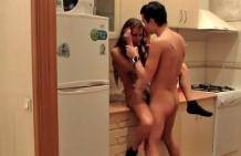 Great in the kitchen, young amateur sex!