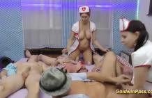 Crazy 2 nurses and group sex good!