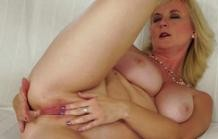 You Old whore doing anal sex with her stepson!