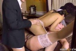 With big tits porn star Daphne Rosen!